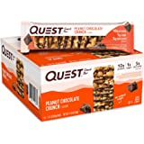 Quest Nutrition Peanut Chocolate Crunch Snack Bar, High Protein, Low Carb, Gluten Free, Keto Friendly, 1.52 Ounce (Pack of 12