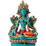 Tibetan Healing Medicine Buddha Statue Hand Painted Nepal (Green Tara)