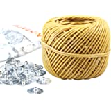 MILIVIXAY 100% Organic Thick Hemp Candle Wick with Natural Beeswax Coating, 200 FT Spool, Thick Size (2.0mm)+ Wick Sustainer