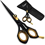 Saaqaans SQR-01 Professional Hairdressing Scissor - Perfect for Hair Salon/Barber/Hairdresser and Home use to Trim your Beard