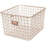 Spectrum Diversified Wire Storage Basket, Medium, Copper