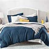 Bedsure Duvet Cover Queen Set Zipper Closure (90x90 Inch) Navy Ultra Soft Brushed Microfiber Bed Cover 3-Piece Bedding Comfor