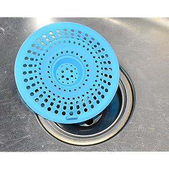 Gebosi 排水口 シンク ストレーナー 浅型 シリコン PP製 キッチン 浴室 浴槽 流し用ゴミカゴ ゴミ受けバスケット シンクストレーナー キッチン 排水口かご 2個セット (ブルー、ピンク、白 ランダム出荷)