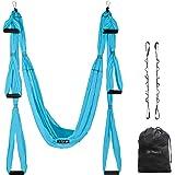 UpCircleSeven Aerial Yoga Swing Set - Yoga Hammock/Trapeze/Sling Kit + Extension Straps & eBook - Antigravity Ceiling Hanging