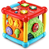 VTech 80-150501 Busy Learners Activity Cube (Frustration Free Packaging) 6.22 x 6.22 x 6.46 Inches