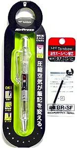 トンボ エアプレス 0.7mm ボールペン クリア (BC-AP20) + リフィル (BR-SF33) セット [Komainu-Douオリジナルパッケージ]