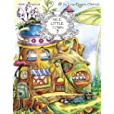 Nice Little Town: Adult Coloring Book (Stress Relieving Coloring Pages, Coloring Book for Relaxation) (Volume 5)