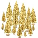 KUUQA Christmas Trees, Plastic, Gold 48 Pack