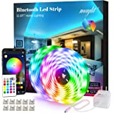 maylit Led Strip Lights, 32.8ft Bluetooth APP Controller RGB LED Light Strip, 5050 LEDs Music Sync Color Changing LED Strip L