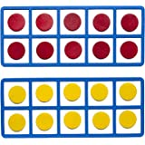 LEARNING ADVANTAGE - CTU7469 Learning Advantage Giant Magnetic Foam Ten Frames - In Home Learning Manipulative for Early Math