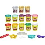 Play-Doh Unicorn Theme 13-Pack of Non-Toxic Modelling Compound for Children 3 Years and Up Including Sparkle and Metallic Col