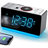 Radio Alarm Clock Bluetooth Bedside Alarm Clock Dual Alarm,FM Radio Clock,Auto Brightness,Dimmer Control,Bluetooth, Snooze, S