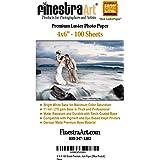 "4"" X 6"" 100 Sheets Premium Luster Inkjet Photo Paper"