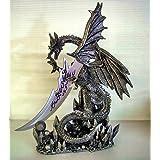 Dragon Knife Dagger Large Figurine Statue Gothic Black