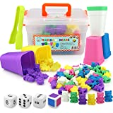 Counting Bears with Matching/Sorting Cups, 4 Dice and an Activity e-Book . for Toddlers and Early Childhood Education. 70 pc