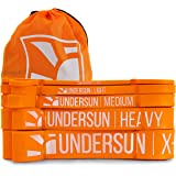 Undersun Fitness The 5-Band Complete Exercise Band Set Includes 5 Different Levels of Resistance Bands from X-Light, Light, M