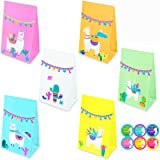 ZOIN Llama Party Favor Bags Cactus Gift Bags Mexico Fiesta Goodie Treat Bags Themed Baby Shower Birthday Party Supplies with