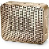 JBL GO2 Portable Bluetooth Speaker with Rechargeable Battery, Waterproof, Built-in Speakerphone, Champagne