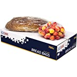 "[700 Pack] 8"" X 4"" X 18"" Strong Clear Bread Bags with Gusset– Perfect for Storing Loaves, Pastries, Baked Goods, & Produce –"