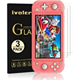 [3 Pack] Screen Protector Tempered Glass for Nintendo Switch Lite, iVoler Transparent HD,High Definition,Clear Anti-Scratch w