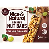 Nice & Natural Real Milk Chocolate Roasted Nut Bars, 192g