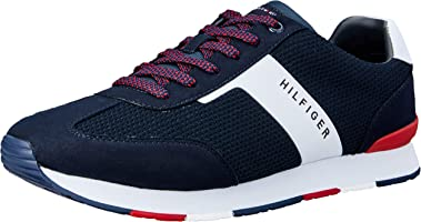 TOMMY HILFIGER Men's Colour-Blocked Logo Trainers Colour-Blocked Logo Trainers