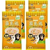 愛情物語 ドッグフード 霧島鶏 ささみ角切り&チーズ 210g(70g×3パック) X4個セット (まとめ買い)