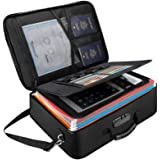 Document Organizer File Storage Bag,Fireproof & Waterproof Travel Important Document Holder Box with Safe Code Lock and Shoul