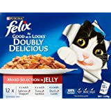 Felix Doubly Delicious - Mixed Selection in Jelly, Adult and Senior, 60x85g
