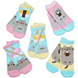 Pusheen and Stormy Sushi Ankle Socks - 5 Pairs