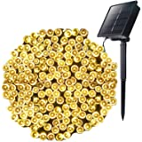 Moonflor Outdoor Solar String Lights with 8 Light Modes, 72FT 200 LED Solar Powered Starry Fairy Waterproof Lights for Weddin