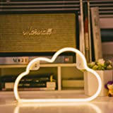 (Yellow) - OHLGT LED Neon Light, Neon Sign Warm White Cloud for Wall Decor, Battery and USB Operated Neon Decorative Lights f