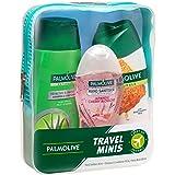 Palmolive Travel Minis Antibacterial Hand Sanitiser 48ml, Hair Shampoo and Conditioner 90ml, Body Wash 100ml