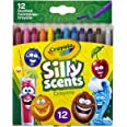 CRAYOLA 52-9612 Silly Scents Mini Twistables Crayons, 12 Colours, Twist for Scented Fun, Safe Creative Fun