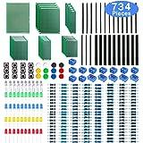 WayinTop ユニバーサル基板 PCB回路基板 両面 6サイズあり ピンヘッダー ピンソケット 40ピン 抵抗器 1Ω~10MΩ 30種類 ターミナルブロックコネクタ 2ピン/ 3ピン 5mm LED 5色あり タクトスイッチ 12個