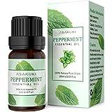 ASAKUKI Peppermint Essential Oil, 100% Pure Therapeutic Grade Aromatherapy Oil 10ML, Natural Plant Extract Scented Oil for Di