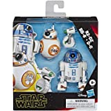 """Star Wars E3118 Galaxy of Adventures R2-D2, BB-8, D-O Action Figure 3 Pack, 5"""" Scale Droid Toys with Fun Action Features, Kid"""