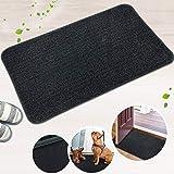 LINLA Non-Slip Doormat Cotton Door Mat, Absorbent Fast Dry, Mud Dirt Trapper Shoes Scraper Mats for Entrance, Floor Indoor 18