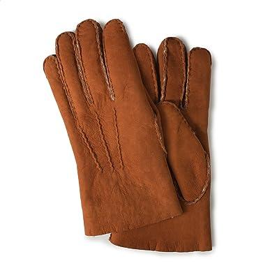 Shearling Gloves: Tan