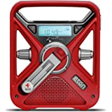 Eton ARCFRX3+WXR Glow-in-The-Dark Locater, Red All Hazard Radio, Red
