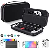 Switch OLED Accessories Bundle - Switch 10 in 1 Starter Set Included Switch OLED Console PU Carrying Case/Console Protective