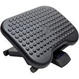 HUANUO Adjustable Under Desk Footrest - Ergonomic Foot Rest with 3 Height Position - 30 Degree Tilt Angle Adjustment for Home