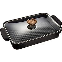 アイリスオーヤマ(IRIS OHYAMA) グリルパン ブラック 37.2×22.3×6cm スキレットコート IH対応…