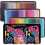 (120 color) - Oil Pencils Wood Coloured Pencils,120 Colouring Pencils Square Barrels Pencils for Adult Colouring Books,Sketch