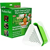 Rapid Veggie Steamer | Microwave Fresh & Frozen Vegetables in Less Than 4 Minutes | Perfect for Dorm, Small Kitchen, or Offic