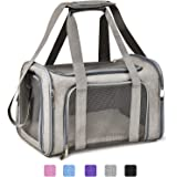 Henkelion Cat Carriers Dog Carrier Pet Carrier For Small / Medium Cats Dogs Puppies (Up To 15lbs), TSA Airline Approved Small