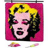 "Latch Hook Kit Hanging Rug Marilyn Monroe Pop Art Home Decoration for Adults 17""x17"""