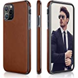 LOHASIC iPhone 11 Pro Case, Business Slim Fit PU Leather Elegant High-end Luxury Cover Shockproof Bumper Anti-Slip Soft Grip