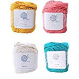 Tropical mindfulknits Knitting Yarn, Crochet Yarn & 100% Cotton Yarn for Knitting, Crocheting, Soft & Gentle Worsted Weight Y