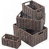 SLPR Storage Basket Bins Dark Brown Maize